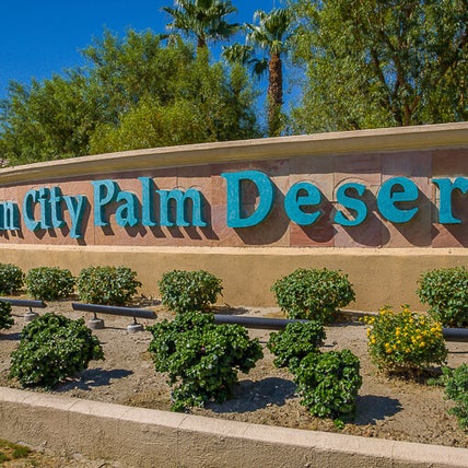 Sun City Palm Desert Entry Gate Sign